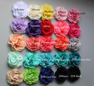 120 шт./лот детей девочек аксессуары для волос Шелковый шифон DIY розетка Цветы без клипс, дети Изысканные цветы в волосы - Цвет: choose color