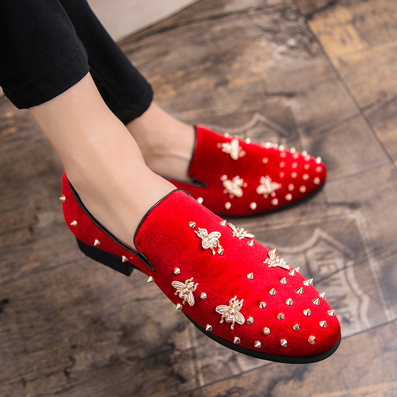 Details about  /Mens real Leather Punk Rivet Metal Dress Formal Party Pointy Toe Shoes oxfords