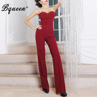 Bqueen Womens Jumpsuit 2019 New Pearl Sleeveless Jumpsuit Female Sexy Club Party Rompers Fashion