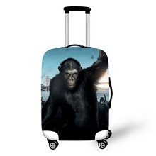Orangutan design travel accessories suitcase protective covers 18-30 inch elastic luggage dust cover case stretchable недорого