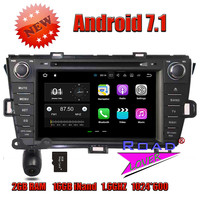 Wanusual 2G 16GB Android 7 1 Car DVD Player For Toyota Prius 2009 2010 2011 2012