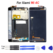 For XIAOMI Mi4C LCD Display Touch Screen Digitizer with Frame No Dead Pixel 5.0 1920x1080 Replace Screen Mi 4C LCD Mi4c M4c цена