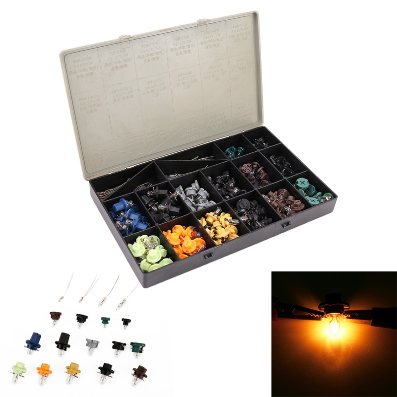 180 PCS Car Interior Led Bulb 0.6W DC 12V Wedge Instrument Panel Light Set Speedometer Dashboard Gauge Cluster Indicator Lamps-in Signal Lamp from Automobiles & Motorcycles    1