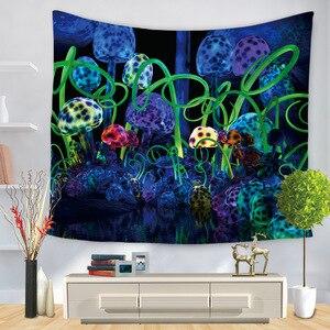 Image 4 - Hongbo Hippie Mandala Modello Arazzo Pittura Astratta di Arte Della Parete Hanging Coperta Soggiorno Decor Mestieri Multifunzione Zerbino