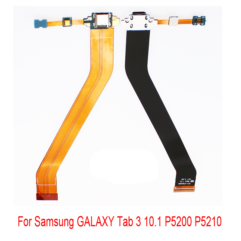 New For Samsung GALAXY Tab 3 10.1 P5200 P5210 Dock Connector Port USB Charger Charging Flex Cable Replacement Spare Parts