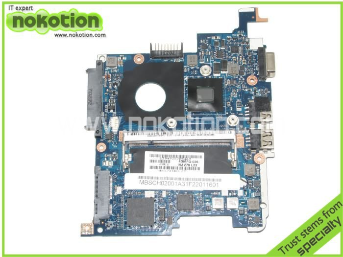 NOKOTION Laptop Motherboard for acer aspire one d260 MBSCH02001 LA-5651P Mother Boards intel n450 nm10 gma x3150 DDR2 Mainboard
