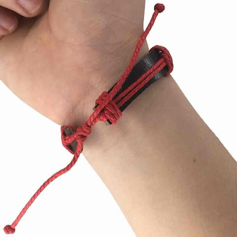 Винтаж амулет мир кожаные браслеты цепи унисекс Руна Тай Чи панк 2018 для мужчин женщин Шарм Инь украшения Yang