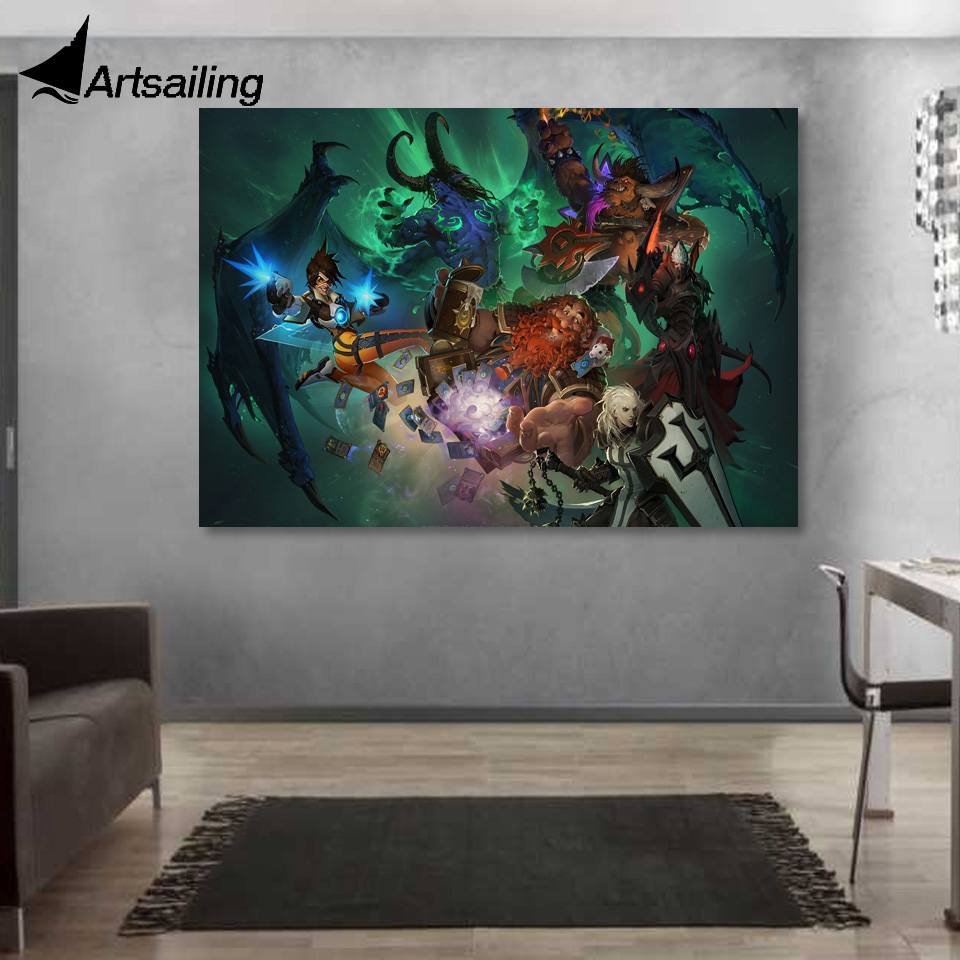 1 Piece Canvas Art Canvas Painting Game Blizzard Warriors HD Printed Wall Art Home Decor ...
