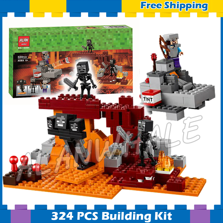 256pcs My World The With Nether Fortress Adventures 10469 Model Building Blocks Toys Bricks Compatible With Lego Minecrafted