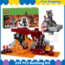 256pcs Meu Mundo O com Nether Fortaleza Aventuras Minecrafted 10469 Modelo Building Blocks Brinquedos Bricks Compatível com Lego(China)