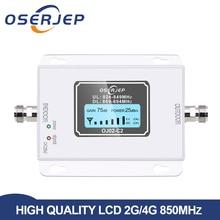 Impulsionador do sinal do telefone celular de 2g 3g, amplificador do repetidor do sinal de gsm da faixa b5 850 mhz repetidor 70db cdma gsm 850 mhz