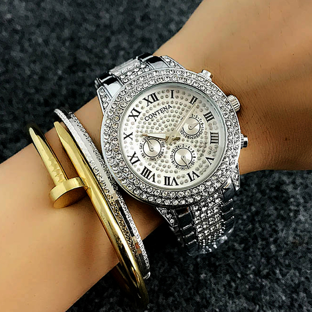 f04355eb8 Luxury Watch Women Famous Brand Women's Crystal Diamond Watches Ladies  Girls Female Clock Montre Femme Relogio