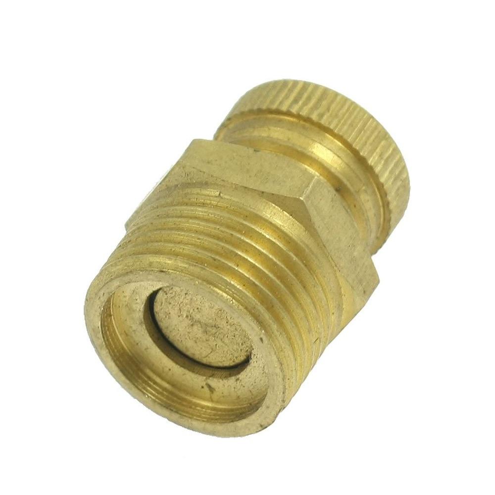 IMC Hot Air Compressor PT 1/4 Male Thread Water Drain Valve Brass Tone