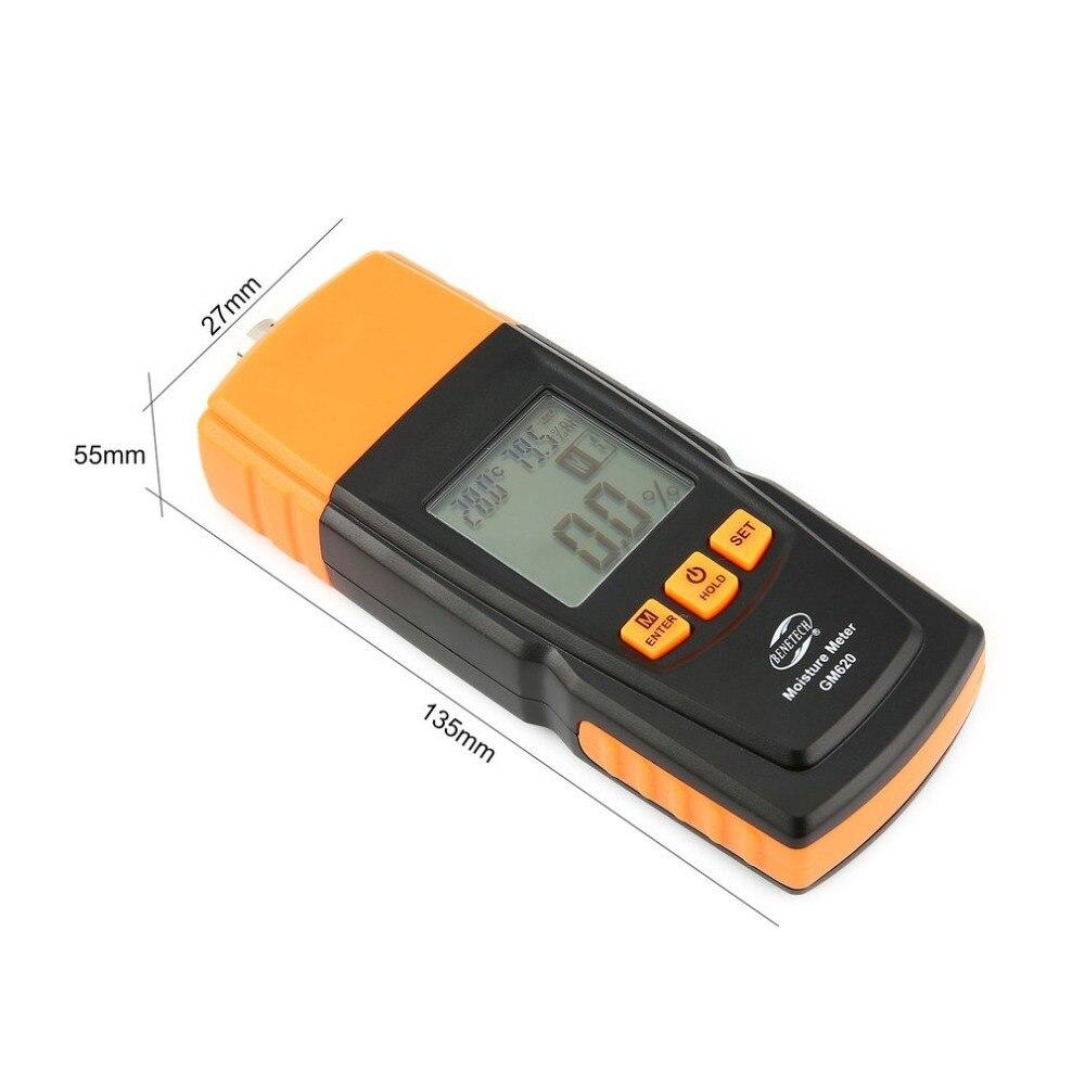 Benetech GM620 humidimètre bois numérique hygromètre testeur d'humidité contreplaqué matériaux en bois LCD rétro-éclairage détecteur d'humidité - 6