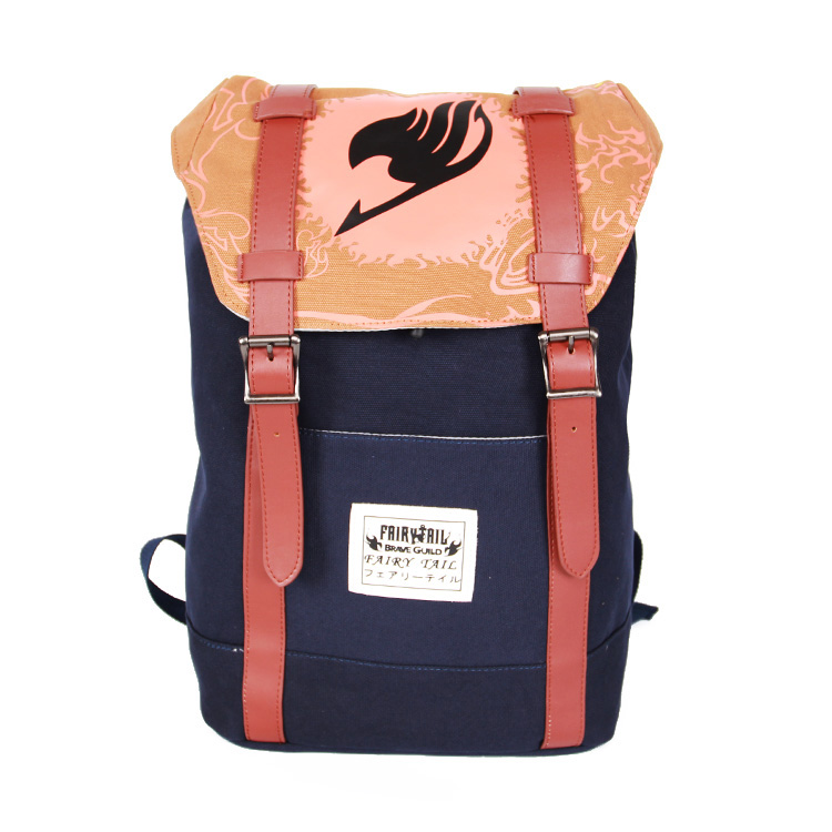 Free shipping Japanese Hot Anime FAIRY TAIL logo printing man woman schoolbag fashion Etherious Natsu Dragneel canvas Backpacks шина continental contisportcontact 5p suv 295 35 r21 103y