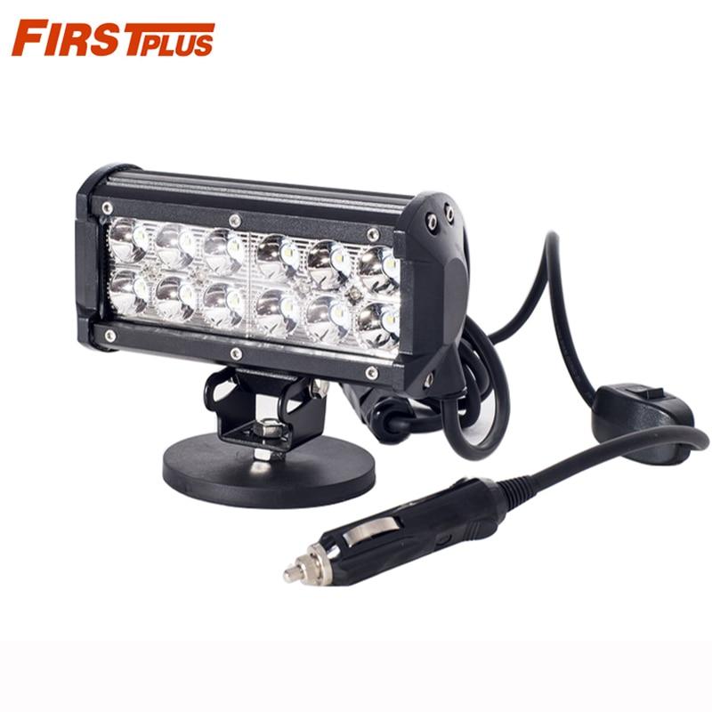 12 В 24 В 36 Вт светодиодный свет прожектора прожектор охоты автомобиля грузовика внедорожник Мотоцикл фар прикуривателя Питание для открытый