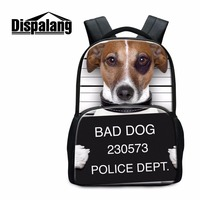 Dispalang new design teenagers schoolbags 3D animal printing women backpacks for school bad dog pattern casual tourism bagpack