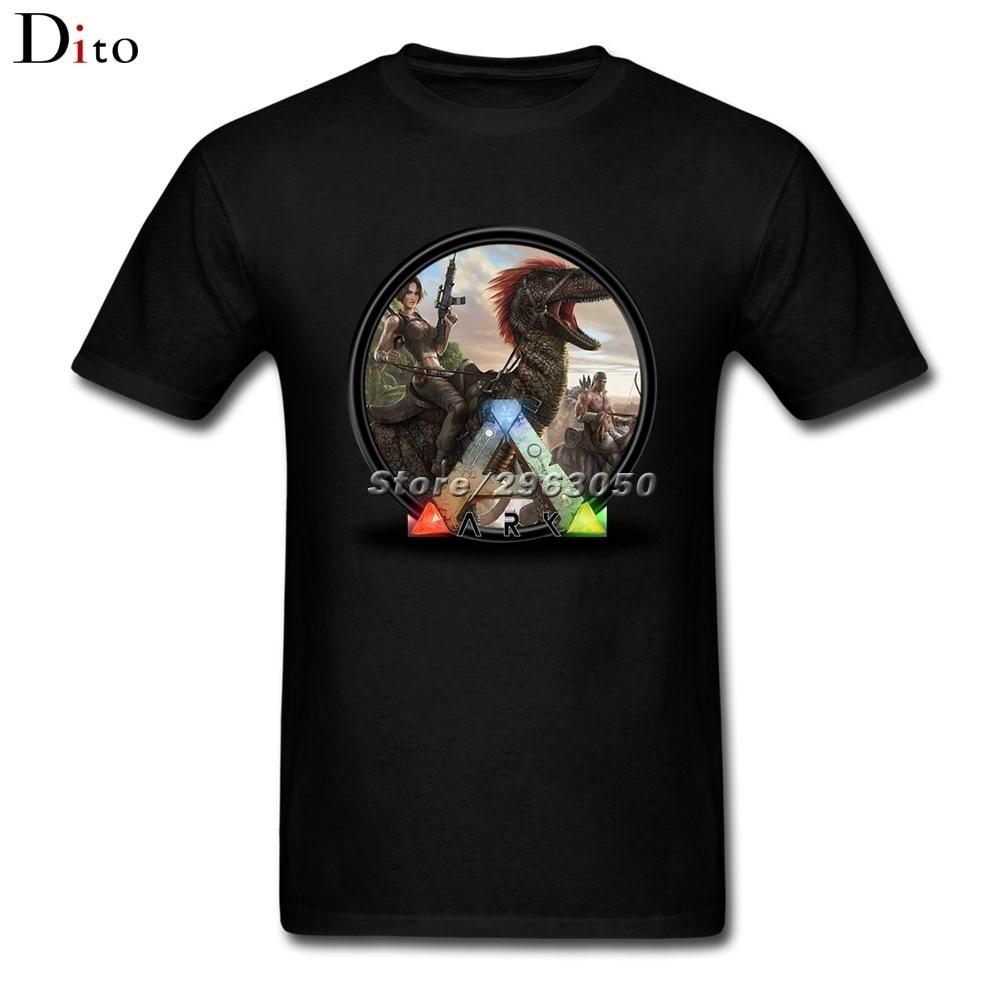 Game Ark Survival Evolved T Shirt Mens Summer Custom Short Sleeve Boyfriends Big Size Family Tshirt