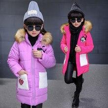 Новая детская Одежда Девушки Пальто Куртки Дети Толстой овечьей Шерсти Пальто Большой Девственный Кожа Длинный Отрезок С Капюшоном Проложенный B434