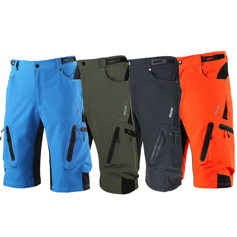 Mens Pocket Pants Sports Cycling Shorts Fitness For MTB Mountain Bike Bicycle