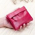New Fashion Women Wallet Cow Split Leather Female Purse Brand Mini Zipper Short Wallets Women Solid Hasp ID Card Holder Pocket
