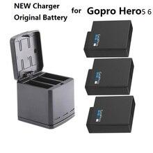Новый 100% Оригинальный аккумулятор для Gopro HERO 7, батареи Gopro 5 6, 3 стороннее зарядное устройство, чехол для аккумулятора камеры GoPro HERO 7, Clownfish