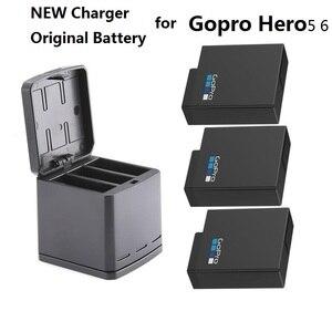 Image 1 - Новый 100% Оригинальный аккумулятор для Gopro HERO 7, батареи Gopro 5 6, 3 стороннее зарядное устройство, чехол для аккумулятора камеры GoPro HERO 7, Clownfish