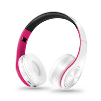 Free Shipping Colorfuls Shinning Bluetooth Headphones Wireless Stereo Headsets With Mic Support TF Card For IPhone