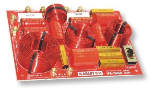 Pour KASUN US-385C 3 Façon 3 Unité haut-parleur hi-fi diviseur de fréquence Crossover Filtres