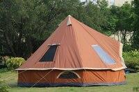 Los клен Индийский палатка 8 человек открытый Корейская семейная юрты, палатки один слой для вождения подан палатка пирамидой башня Монголия