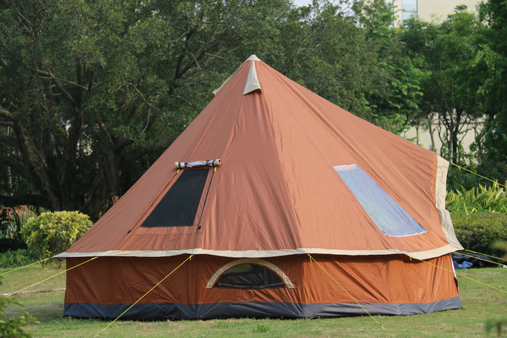 los maple Indian camping tent 8 person outdoor Korean family yurt tent single layer driving filed tent pyramid A tower Mongolia pyramid indian camping tent 3 5 person outdoor family yurt tent ultra light double layer driving filed tent fireproof material