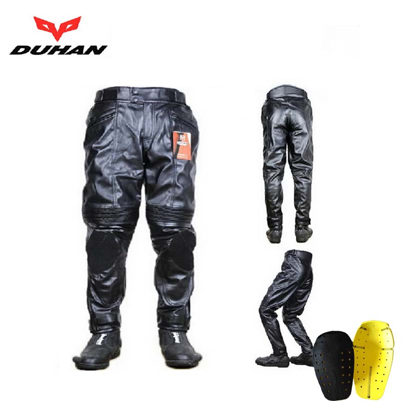 Authentic DUHAN 05 motorcycle pants locomotive Trousers car riding pant of high quality PU waterproof windproof size M L XL XXL