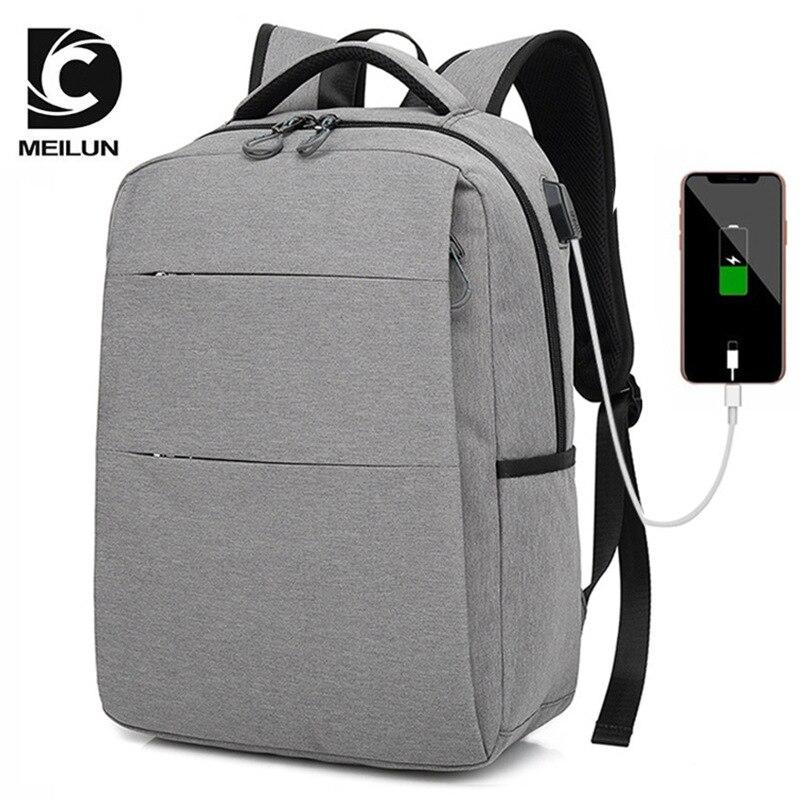 2018 USB sac à dos 15.6 pouces sac à dos pour ordinateur portable pour femmes hommes école sac à dos sac pour garçon filles mâle voyage Mochila - 4