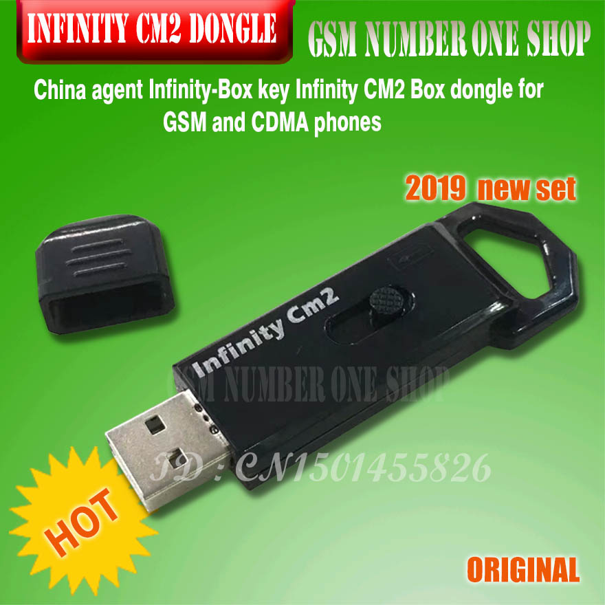 Gsmjustoncct 2019 original NUEVO AGENTE DE China infinito-Box Dongle infinito CM2 Dongle caja para GSM y CDMA teléfono envío gratis