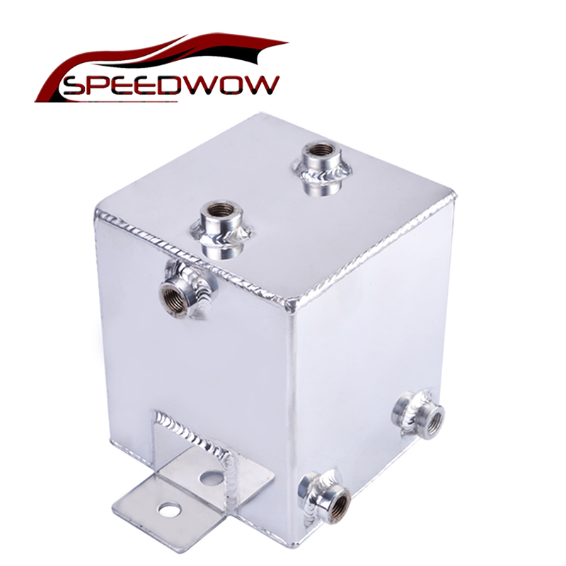 SPEEDWOW Universal 2L Aluminum Oil Catch Can Tank Racing Car Breather Oil Tank Reservoir Turbo Oil Catch Can цены онлайн