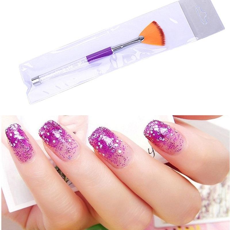 Nail Art Fan Brush Crystal Diy Professional Tools Acrylic Uv Gel