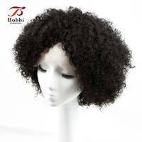 BOBBI COLLECTION Lace Front Human Hair Wigs Brazilian Afro Kinky Curly Non Remy Hair Wigs Lace Front Wig 10 22 inch