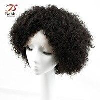 Ludzki Włos koronki Przodu Peruk Brazylijski Afro Perwersyjne Kręcone Włosy z Pierwszego Tłoczenia Koronki Przodu Peruka z Baby włosów Peruki dla Czarnych Kobiet włosy
