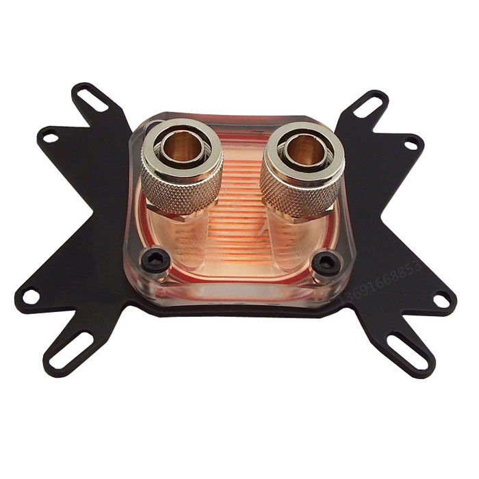 For Intel LGA 115X 1366 AMD Universal computer CPU water Liquid cooling Cooler Block transparent Acrylic copper base radiator pccooler donghai x5 4 pin cooling fan blue led copper computer case cpu cooler fans for intel lga 115x 775 1151 for amd 754