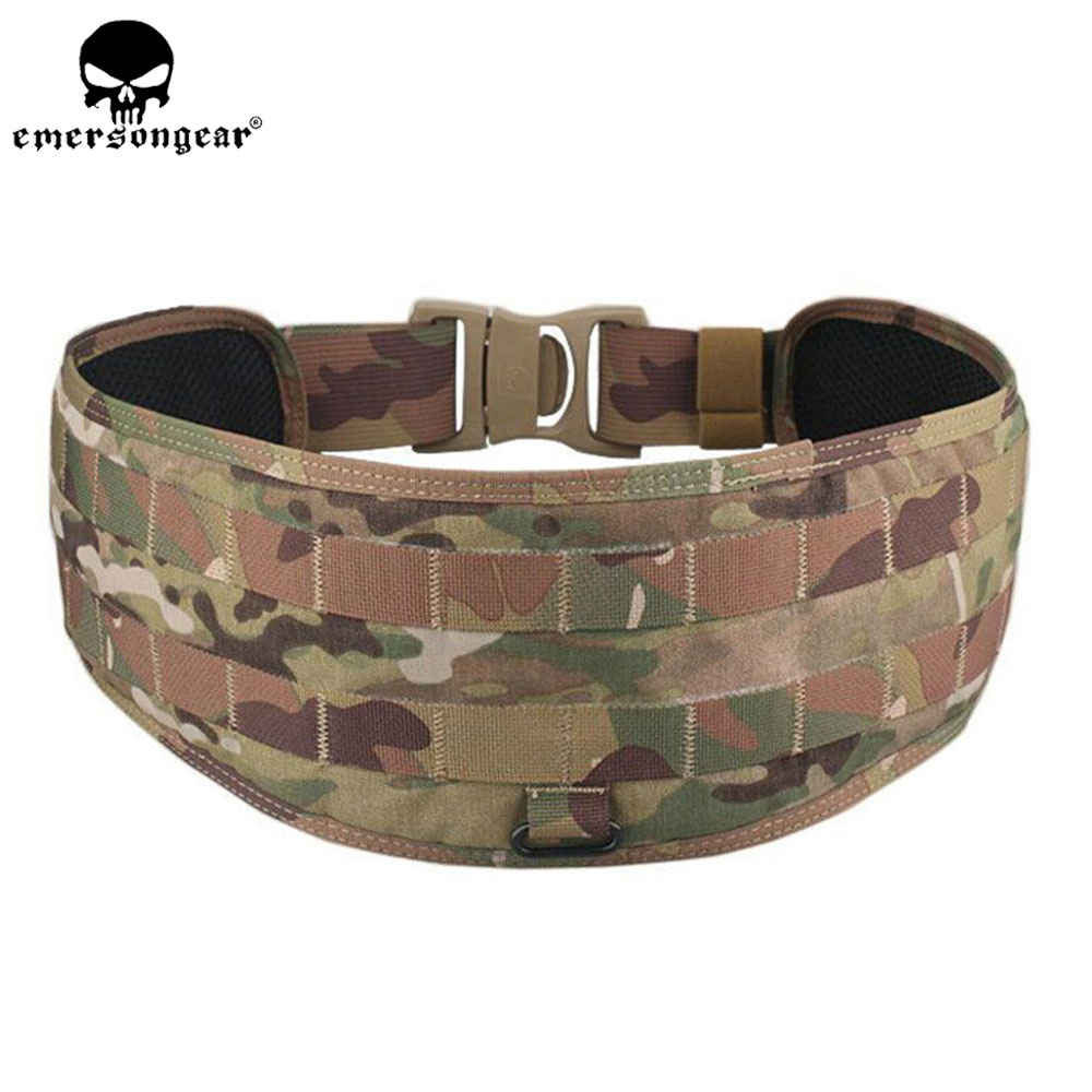 EMERSONGEAR Molle Belt Tactical Airsoft Paintball Combat Molle Belt LBT1647B Style Padded Waist Belt Multicam Black EM9012 стоимость