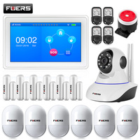 New arrival amazing design flat table 7 Inch TFT Color Display WIFI+ GSM Alarm System K7 Linkage wifi ip camera N62