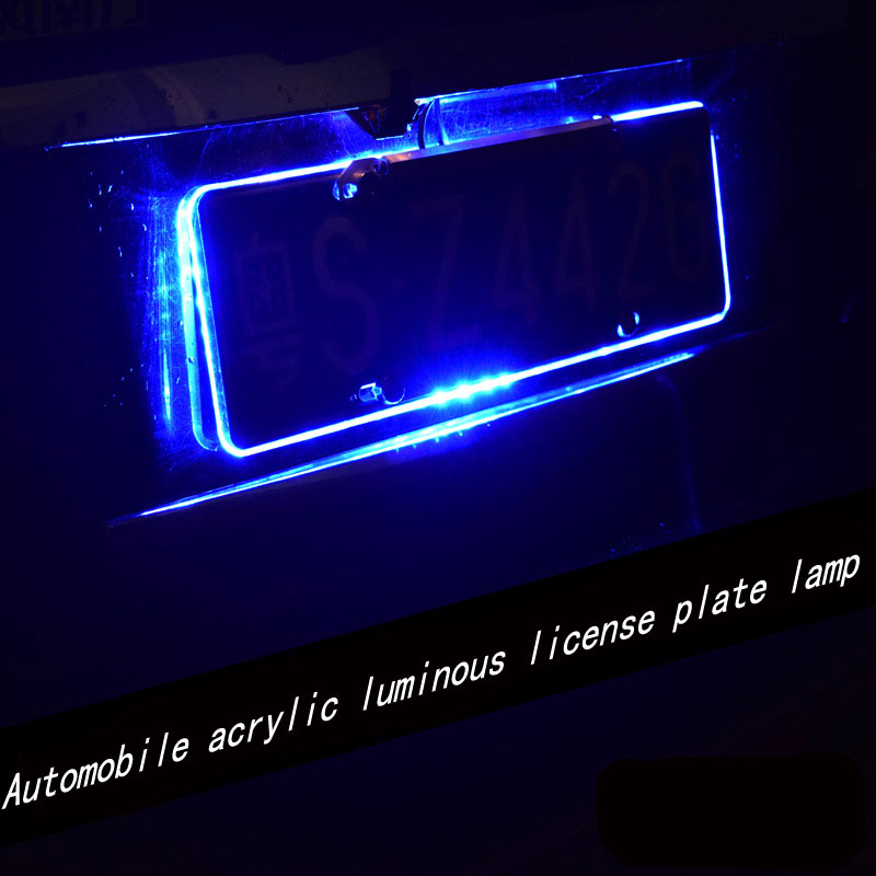Acrylic Led Car License Plate Frame License Plate Lighting Super Bright  Light After Modified Brake Fog Lamp Assembly In Car Light Assembly From  Automobiles ...