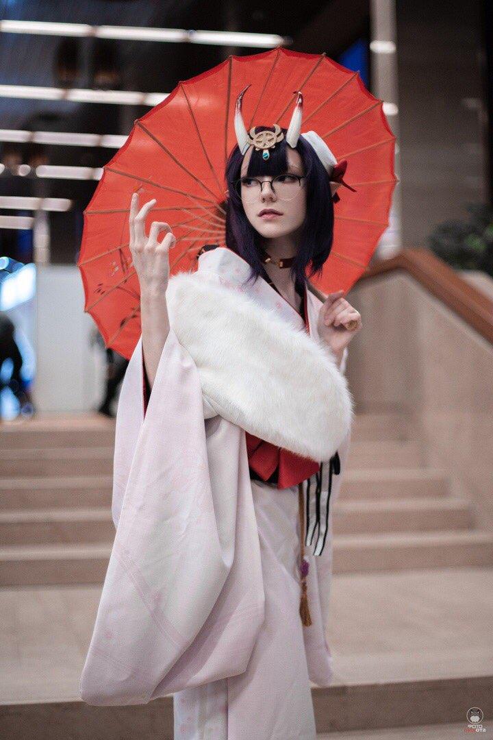 Fate Grand Order Cosplay fgo Ibaraki Doji Shuten Doji cosplay costume Winter Festival Kimono cosplay