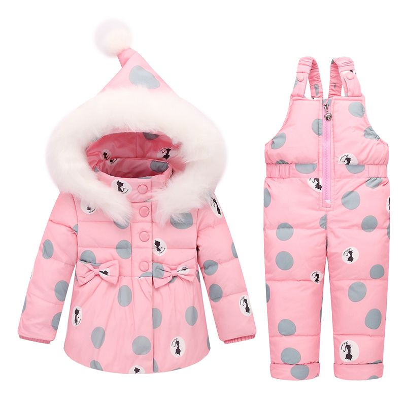 BibiCola winter baby girls jacket coat new fashion white duck down warm clothing sets child girl warm coat+warm pants sets new arrival 2018 winter europe fashion women s duck down coat