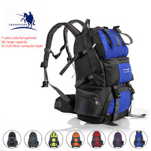 Free Knight 50L professional mountaineering bag waterproof outdoor mountaineering bag large capacity camping sports backpack winmax outdoor bag camping wear resistant 40l backpack mountaineering hunting travel backpack big capacity waterproof sports bag