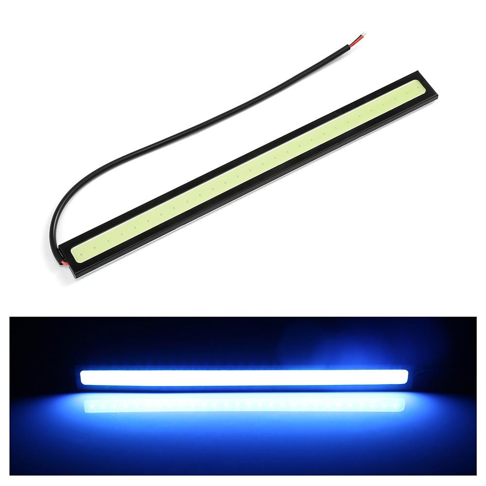 1 Piece 17cm COB LED DRL Driving Daytime Running Lights Strip 12V COB LED DRL Bar Aluminum Stripes Panel Car Moto Working Lights