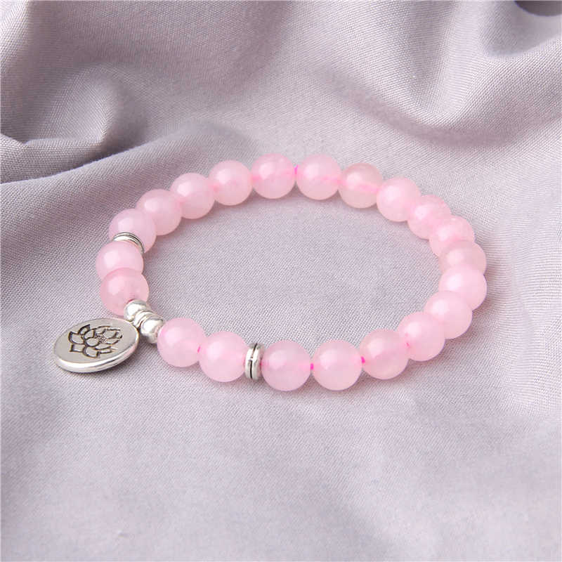 Vinswet Fashion Pink Red Crystal Bracelet Femme Rose Pink Quartz Bracelets For Women Lovers Girl Shell Pendant Bracelet Jewelry