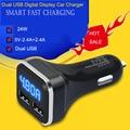3 en 1 Cargador Dual Del Coche Del USB 5 V 4.8A Universal con el adaptador de voltaje/current meter tester digital display led para iphone ipad