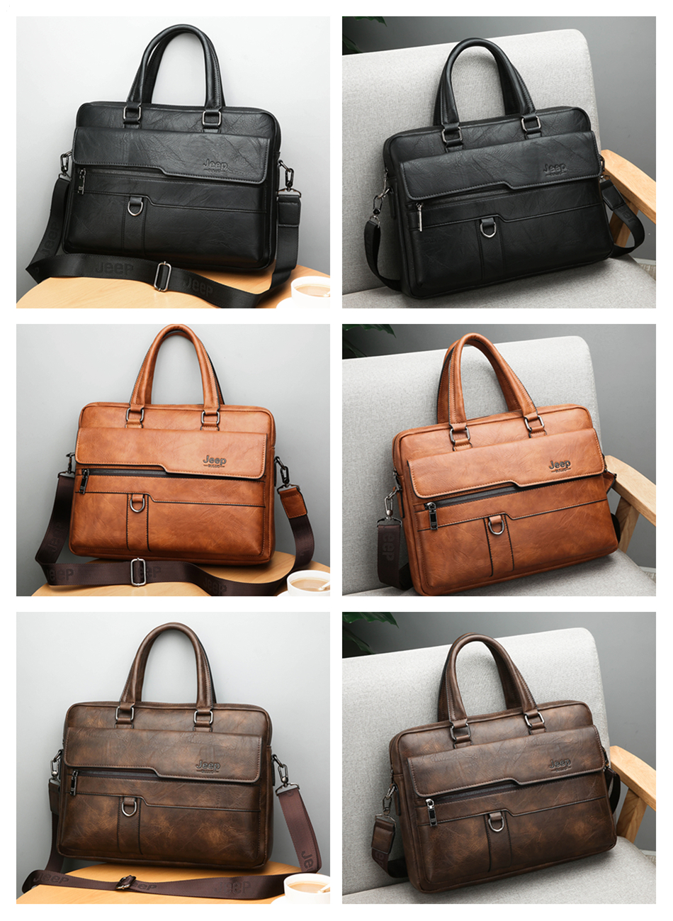 HTB1GGtSXMaH3KVjSZFjq6AFWpXaQ JEEP BULUO Brand Man Business Briefcase Bag Split Leather High Quality Men office Bags For 14 inch Laptop A4 File Causel Male