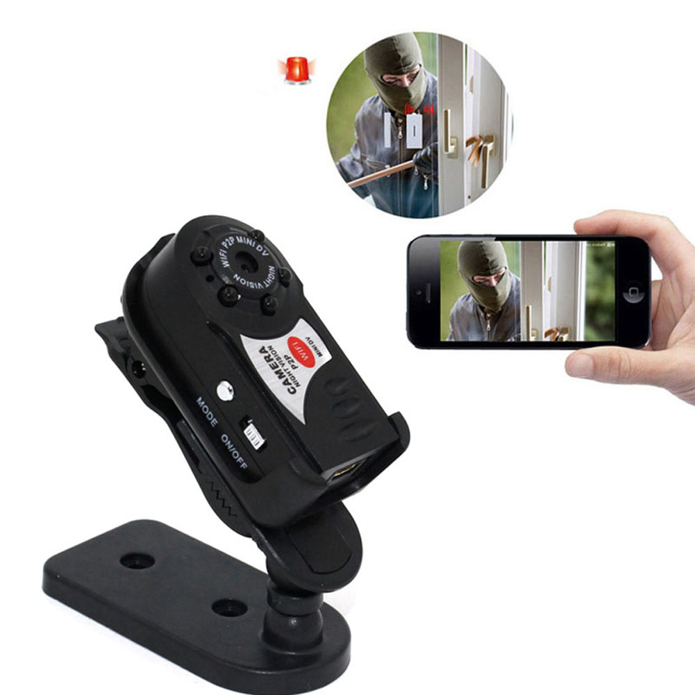 Q7 Mini Wifi Cameras Wireless Remote Camera DVR Infrared Night Vision Sport Camcorder Motion Detection for Baby Monitor LCC77Q7 Mini Wifi Cameras Wireless Remote Camera DVR Infrared Night Vision Sport Camcorder Motion Detection for Baby Monitor LCC77